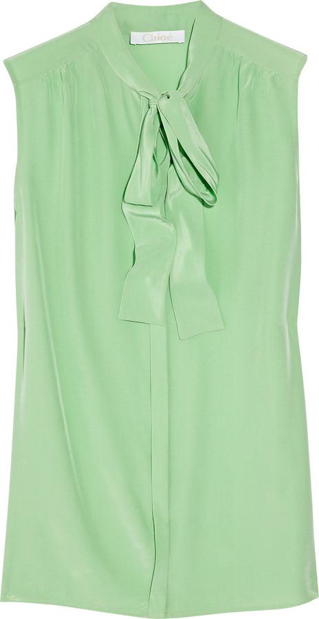 Chloé Silk pussy-bow blouse