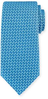 Charvet Abstract Box-Pattern Silk Tie