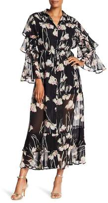 Religion Care Printed Ruffle Maxi Dress