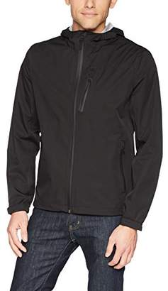 Cole Haan Men's Light Weight Packable Jacket with Exposed Waterproof Zippers