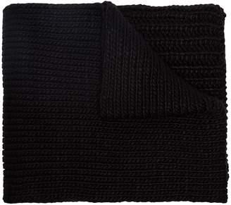 Y-3 chunky knit logo scarf