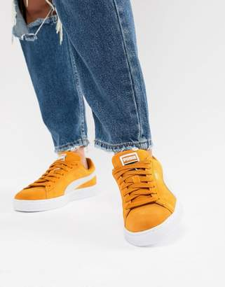 Puma Suede Classic Mustard Yellow Sneakers