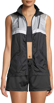 Blanc Noir Moonlight Hooded Mesh Vest
