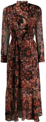 Schumacher Dorothee printed turtleneck maxi dress