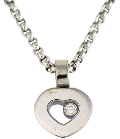 ChopardChopard 750 White Gold Diamond Heart Pendant Necklace