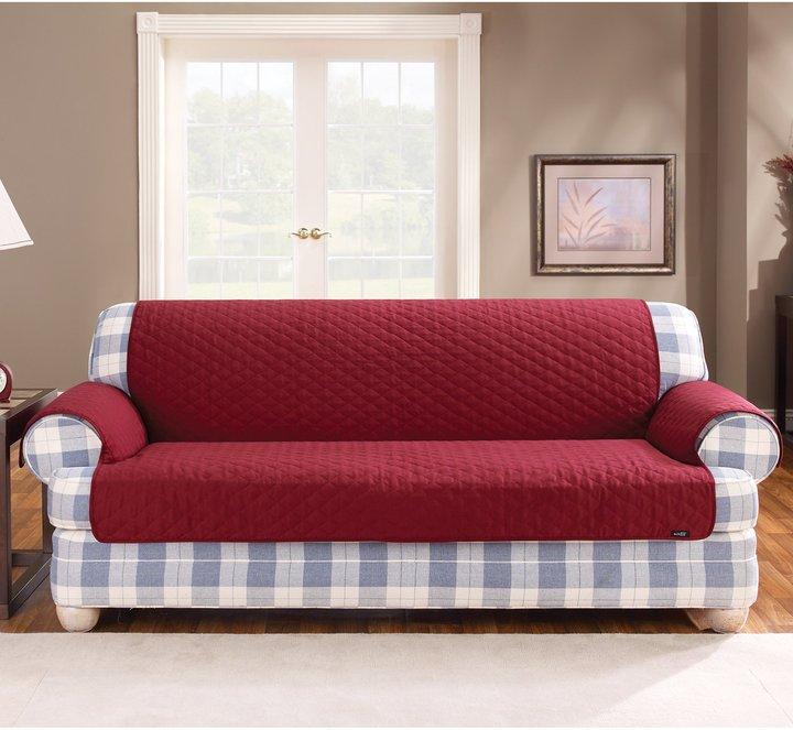 Sure Fit Cotton Duck Sofa Pet Cover-Linen