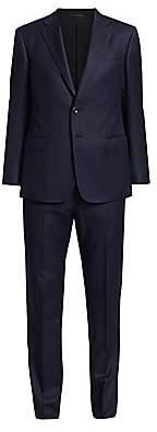 Giorgio Armani Men's Micro Diamond Single-Breasted Wool Suit