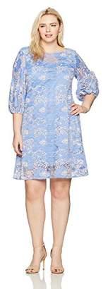 Julian Taylor Women's Plus Size Full Figured Fancy Lace Dress