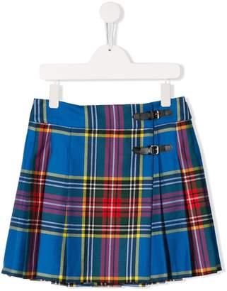 Bonpoint TEEN tartan mini skirt