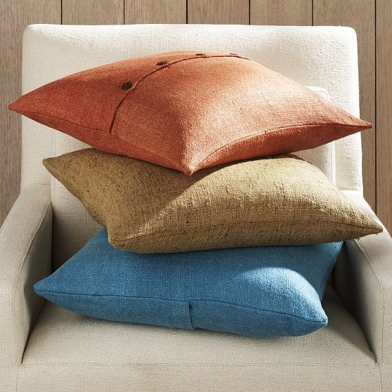 Solid Silk Handloomed Pillow Cover