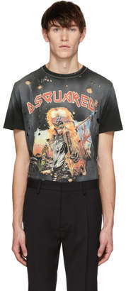 DSQUARED2 Black Sister From Hell Cigarette Fit T-Shirt