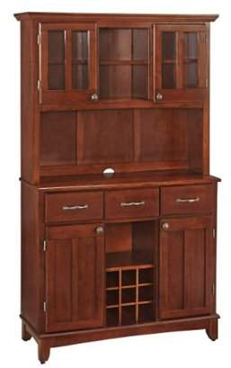 Home Styles home styles 5100-0072-72 buffet of buffets medium cherry wood with hutch, cherry finish, 41-3/4-inch