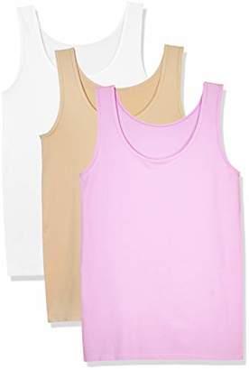 Layla's Celebrity 3 Pack Women's Seamless Basic Layer Tank Top Nylon Spandex