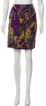 Marni Printed Knee-Length Skirt Purple Printed Knee-Length Skirt