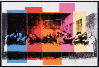 McGaw Graphics Detail of the Last Supper, 1986 by Andy Warhol (Framed)