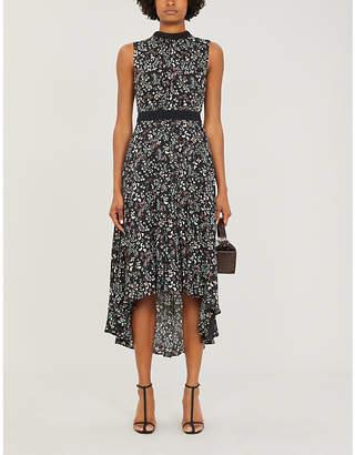 Ted Baker Hazel asymmetric-hem floral crepe dress