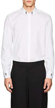 Neil Barrett Men's Lightning-Bolt Cotton Poplin Shirt