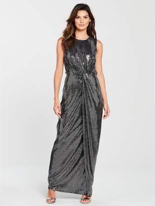 Phase Eight Dahlia Shimmer Maxi Dress - Silver