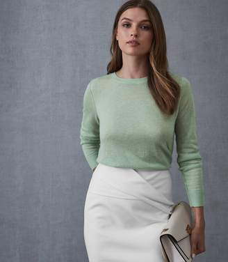 Reiss Maya - Crew Neck Jumper in Pale Green