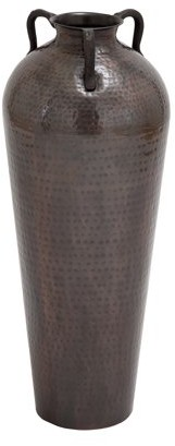 Benzara 26986 Metal Flower Vase With Antique And Durable Finish
