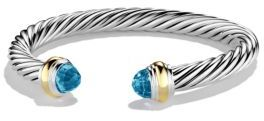 David Yurman Cable Classics Bracelet with Gold $695 thestylecure.com