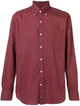 Canali button-down check shirt