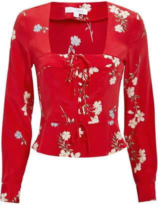 8bf520c9b596b9 Red Floral Blouse - ShopStyle
