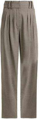 Balmain Prince of Wales-checked virgin-wool trousers
