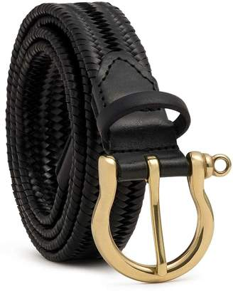 Dalgado - Elastic Braided Leather Belt Black Alessandra
