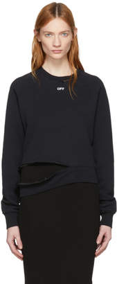 Off-White Black Off Deconstruction Crewneck Sweatshirt