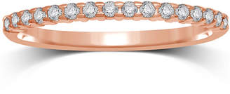 JCPenney MODERN BRIDE 1/7 CT. T.W. Diamond 10K Rose Gold Band Ring