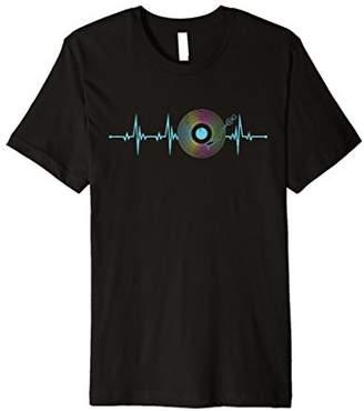 Vinyl Herzschlag T-Shirt Schallplatte Musik Puls Geschenk
