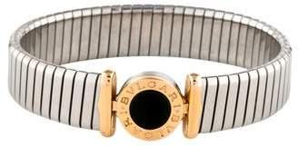Bvlgari 18K Onyx Tubagos Bracelet