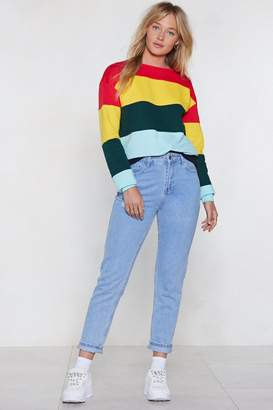 Nasty Gal Bright On Time Colorblock Sweater