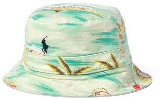 e2499af9564 Polo Ralph Lauren Print Reversible Bucket Hat (Small Medium