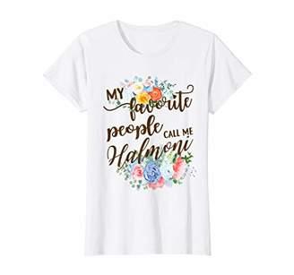 Womens My Favorite People Call Me Halmoni Korean Grandma Mother T-Shirt