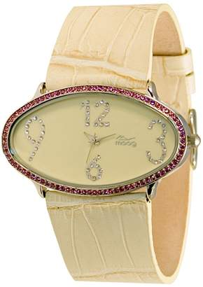 Swarovski Moog Paris Egg Women's Watch with Dial, Genuine Leather Strap & Elements - M44142-007