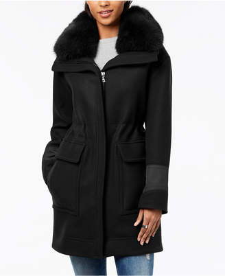Trina Turk Fur-Collar Coat