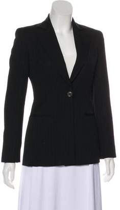Gianni Versace Pinstripe Notch-Lapel Blazer