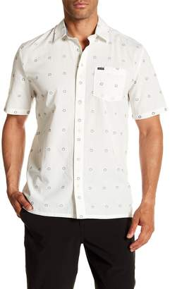 Volcom Trenton Short Sleeve Modern Fit Print Woven Shirt