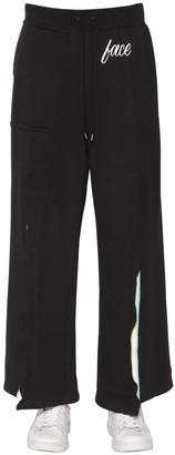 Facetasm Print Jersey Sweatpants W/ Rib Inserts
