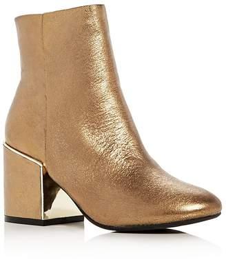 Kenneth Cole Reeve 2 Metallic Block Heel Booties $170 thestylecure.com