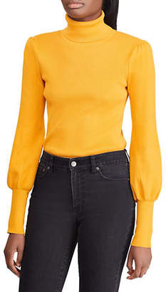 Lauren Ralph Lauren Turtleneck Puffed-Sleeve Sweater
