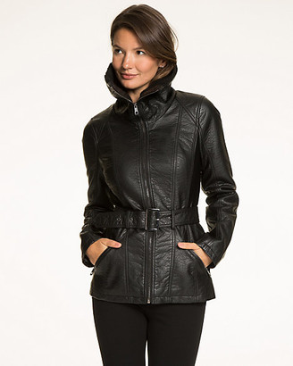 Le Château Leather-Like Zip Front Jacket
