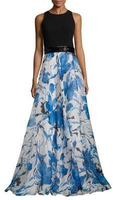 Carmen Marc Valvo Floral Organza Gown $1,295 thestylecure.com