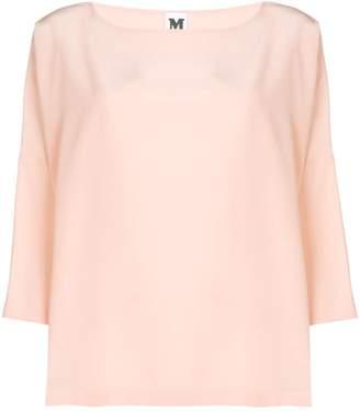 M Missoni (エム ミッソーニ) - M Missoni draped flared blouse