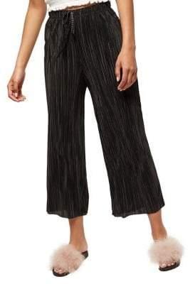 Miss Selfridge Cropped Plisse Trousers