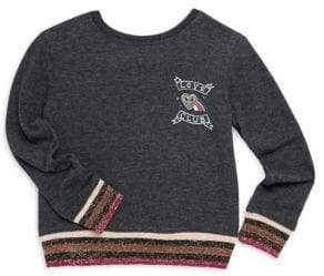 Spiritual Gangster Todder's, Little Girl's& Girl's Love Club Crew Graphic Sweatshirt