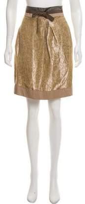 Philosophy di Alberta Ferretti Linen Knee-Length Skirt