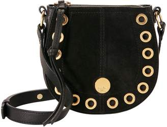 See by Chloe Gold Grommet Black Crossbody Bag